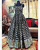 Black tapeta silk printed gown
