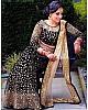 Black velvet heavy embroidered mirror work wedding lehenga choli
