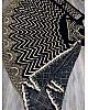 Black velvet heavy foil paper embroidered lehenga choli