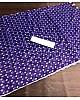 Blue italian finished cotton silk digital printed work saree