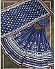 Blue vaishali silk digital printed party wear lehenga choli