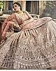 Brown georgette thread and zari work bridal lehenga choli