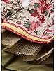 Cream vaishali silk digital flower printed traditional lehenga choli