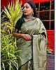 Dark green kanchipuran kota silk jacquad work wedding saree