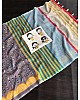 Dusty rose linen digital print cotton tussles work saree