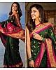 Green banarasi silk jacquard work saree