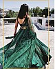 Green georgette heavy embroidered sequence work wedding lehenga choli