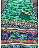 Green georgette with digital printed work saree