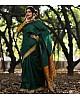 Green likchi silk jacquard work saree