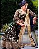 Green velvet heavy embroidered mirror work wedding lehenga choli