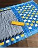 Grey linen digital print with cotton tussles work saree