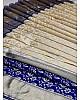 Grey soft kanjiwaram silver jacquard weaving work ceremonial saree
