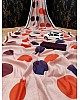Light peach cotton chanderi original digital printed work saree