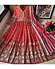 Magento red heavy georgette fully embroidered work occasional wear gown