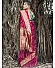 Maroon banarasi kota silk gold jari work wedding saree