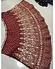 Maroon phantom silk embroidered work ceremonial lehenga choli
