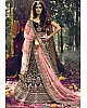 Maroon pure velvet soft net stone work bridal lehenga choli