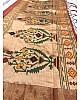 Maroon two ton silk zari jacquard weaving work saree
