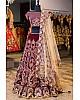 Maroon velvet heavy embroidered wedding lehenga choli
