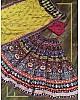Multi colour vaishali silk printed embellish sequins work lehenga choli
