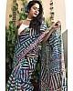 Multicolour original linen digital printed banglori saree