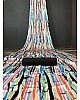 Multicolour pure japan satin printed saree