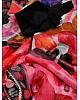 Multicolour soft organza silk digital printed work saree