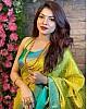 Mustard yellow soft lichi silk jacquard weaving work saree
