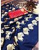 Navy blue banari silk jacqard work saree