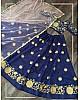 Navy blue diamond silk embroidered work lehenga choli