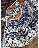 Navy blue georgette chine stitch work party wear lehenga choli