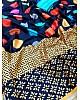Navy blue japan satin silk digital printed work saree