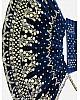 Navy blue velvet satin heavy embroidered ceremonial lehenga choli