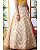Off white art silk sequence thread embroidered bridal lehenga choli