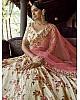 Off white georgette sequence and zari work bridal lehenga choli