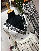 Off white heavy embroidered sharara suit