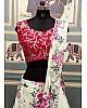 Off white italian silk floral digital printed lehenga choli