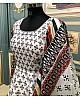 Off white taffeta heavy digital print work gown with dupatta