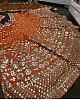 Orange banglori satin silk zari and paper milk work lehenga choli