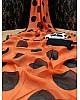 Orange cotton chanderi original digital printed work saree