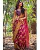 Pink banarasi silk jacquard work saree