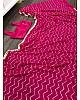 Pink georgette sequence work saree