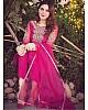 Pink heavy georgette embroidered work salwar suit