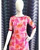 Pink heavy georgette floral printed work fancy gown
