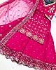 Pink heavy georgette zari embroidered work sharara suit