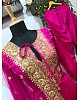 Pink tapeta silk embroidered plazzo salwar suit