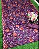 Purple heavy soft silk digital printed saree