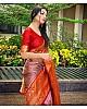 Purple kanjiwaram kota silk jacquard pattern work wedding saree