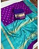Purple soft lichi silk jacquard weaving work