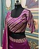 Purple taffeta silk embroidered wedding lehenga choli